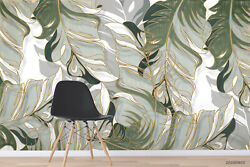 3d Tropical Leaves Self-adhesive Removeable Wallpaper Wall Mural Sticker 22
