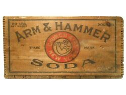 Arm And Hammer Baking Soda Early 20th C Vint Wood Box Crate Dwight And Church Co, Ny