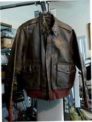 Wwii Original Us Army Air Corps Named A-2 Flight Leather Jacket 4, Used