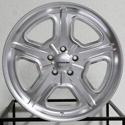 4-new 20 Vision 147 Daytona Wheels 20x8.5 5x114.3 32 Hyper Silver Rims