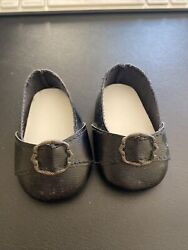 Pleasant Company American Girl Doll Felicity Meet Black Colonial Buckle Shoes