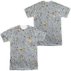 Cow and Chicken Cow Chicken Pattern Men#x27;s All Over Print T Shirt