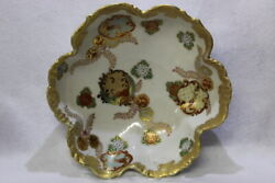 Antique Japanese Imari Hand Painted Gold Decorated Embossed Bowl 9.5