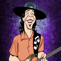 Stevie Ray Vaughn By Anthony Parisi Limited Edition Print