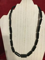 Vintage Early 20th To Mid Century Hawaiian Black Coral Necklace