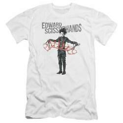 Edward Scissorhands Show And Tell Menand039s Premium Slim Fit T-shirt