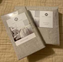 Hotel Collection Linen King Fitted Sheet + Two King Pillowcases Natural. Brand