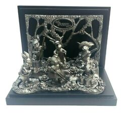 """Vintage Michael Ricker Pewter """"the Bunny Band"""" Rare Collectible With Frame"""