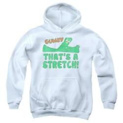 Gumby That's A Stretch Youth Hoodie Ages 8-12