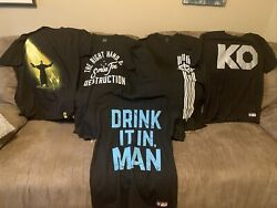 Lot Of 5 Wrestling T-shirts Pro Wrestling Wwe And Nxt All Size L