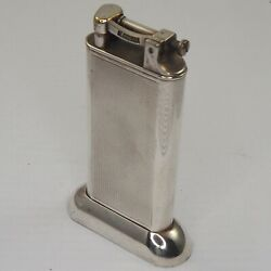 Dunhill Big Table Lighter - Silver Plated - England Art Deco 1930ies Rare