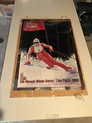 Set 3 Official Foil Posters 1980 Winter Olympics Lake Placid Mint Uncirculated