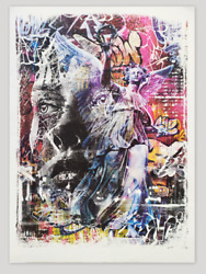 Triumph Print By Pichiavo X Vhils Collaboration Signed And Numbered Rare Art