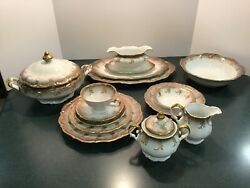 Bavaria Germany Fine China Magnificat By Margarete Service For 12+9 Service Pcs