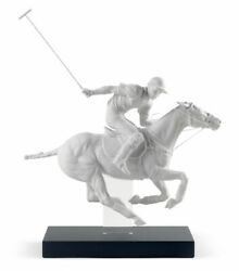 Lladro 01008719 Polo Player Figurine Limited White Porcelain New Free Ship