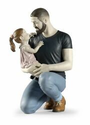 Lladro In Daddyand039s Arms Figurine 01009391 Porcelain New Free Ship