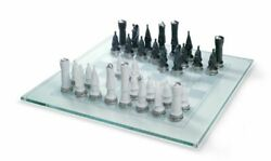 Lladro 01007138 Chess Set Silver Lustre Porcelain New Free Ship Gift For Man