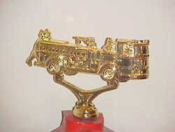 Vintage Metal Fire Engine Truck Topper Police Call Box Finial Gamewell Alarm