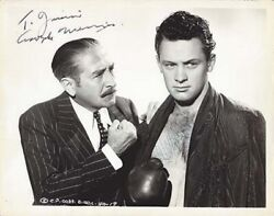 William Holden And Adolphe Menjou Jointly Signed Vintage Photo From Golden Boy