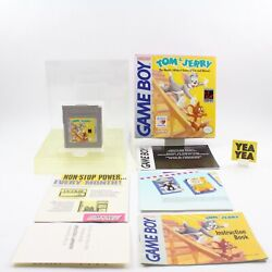 Tom And Jerry Nintendo Game Boy 100 Complete Cib Near Mint W/ Protector