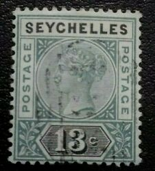 Seychelles1890 Queen Victoria - Shading Lines At Rig. Rare And Collectible Stamp.