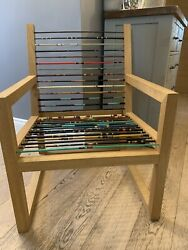 Unique Fishing Rod Solid Oak Chair Featured On Bbc Money For Nothing
