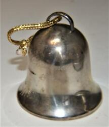 Vintage Signed Wallace Sterling Silver 1972 Annual Christmas Bell Ornament 30g