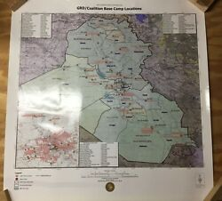 Us Army Corps Of Engineers Trans-atlantic Middle East 32 X 30 Color Iraq War Map