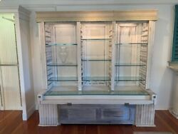 Antique Display Case With Lights