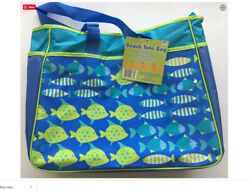 Beach Bag Whimsical Fish Blue amp; Green Tote with Shoulder Strap by RIO NEW $14.47