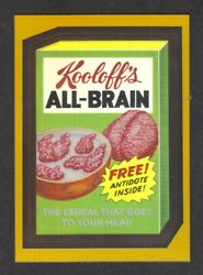 Topps Wacky Packages 2014 Chrome Gold - All Brain - Only 25 Made