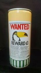 Guinness Extra Stout Wanted Toucan Reward L1 - 1980 - 440ml Pull Tab Can Dublin