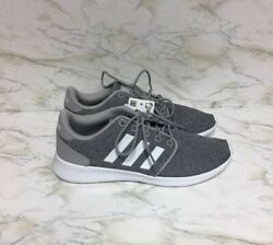 New Adidas Womenand039s Qt Racer Gray White Memory Foam Running Shoes Size 7 No Box