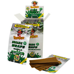 Honeypuff Cigar Rolling Papers Vanilla Flavor Organic King Size Full Box 50 Pack