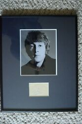 John Lennon Beatles Signed Signiert Autograph At Album Page From 60th