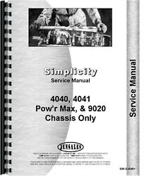 Simplicity 4040 4041 Power Max 9020 Lawn And Garden Tractor Service Repair Manual