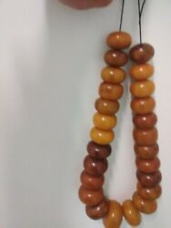 Large African Amber Bead Necklace