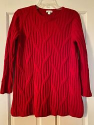 J. JILL CHENILLE Sweater Size Small Red Long Sleeve Super Soft Women#x27;s $19.99