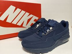 🔥menand039s Nike Air Max Ltd 3 Casual Shoes Triple Midnight Navy Size 8 687977-401
