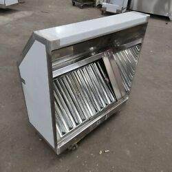 5' Ft Commercial Kitchen Sloped Front Hood With Captiveaire Fan 2100 Cfm
