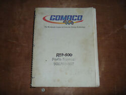 Gomaco Rtp-500 Rubber Tracked Placer Paver Parts Catalog Manual 906700-037