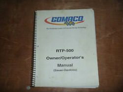 Gomaco Rtp-500 Rubber Tracked Placer Owner Operator Maintenance Manual