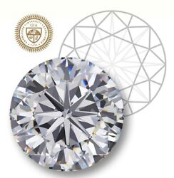 Gia Certified Round Cut 0.71-ct H-color I2-clarity 1-ratio Natural Diamond