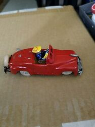 Occupied Japan Nice Tin Wind Up Red Convertible Sport Car Tin Litho Driver