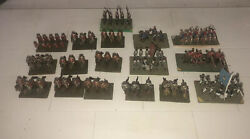 Vtg Metal Revolutionary Army Soldiers War Horses Hand Painted Holstein Figurines