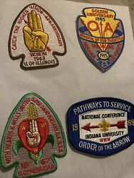 Oa Lot Of 4 Noac National Order Of The Arrow 1965 Golden Anniversary 63 67 69