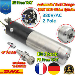 3kw Bt30 380v Automatic Tool Changer Water Cooled Spindle Motor Atc Cnc Mill【fr】