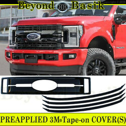 2017 2018 2019 Ford F250 Xl And Xlt Only Gloss Black Grille Cover Overlay Insert