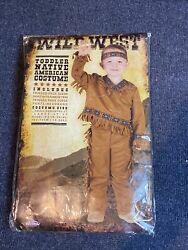Native American Indian Boy Wild West Toddler Small 24-2t Costume