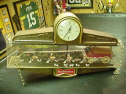 Vintage Budweiser Bar Clock - Champion Clydesdale Team Pool Table Light